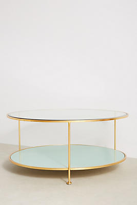 Lacquered Round Coffee Table