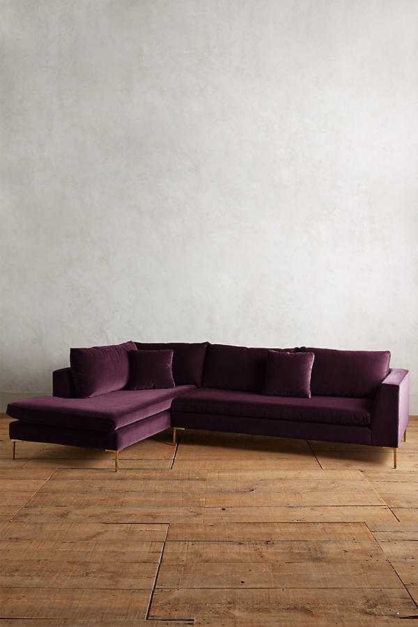 Slide View: 1: Velvet Edlyn Left Sectional