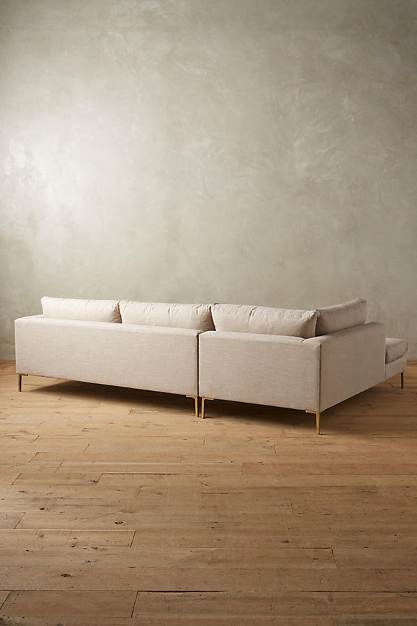 Slide View: 2: Linen Edlyn Left Sectional