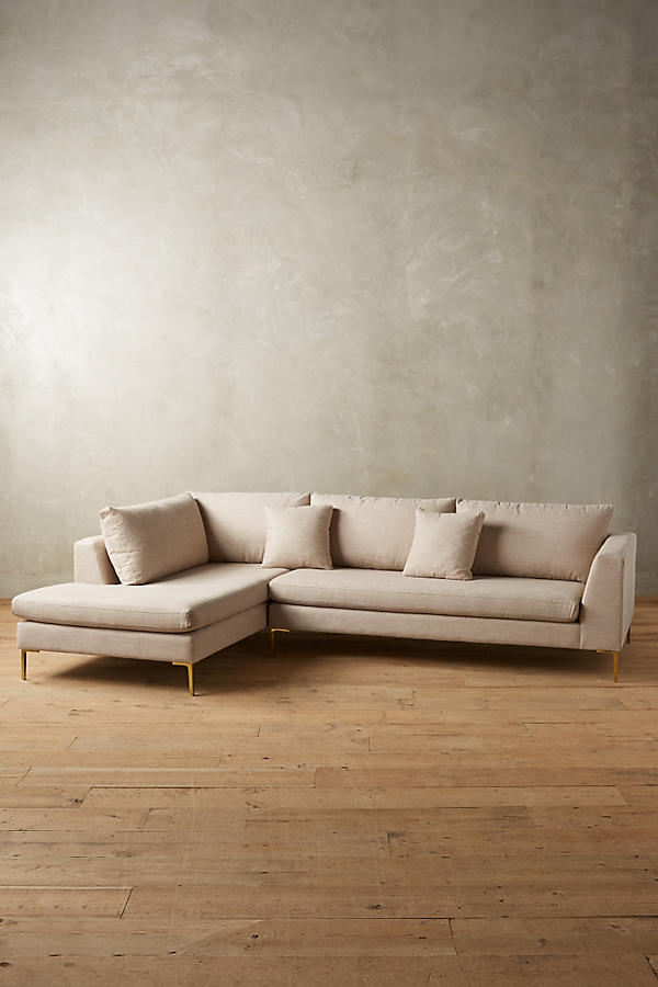 Slide View: 1: Linen Edlyn Left Sectional