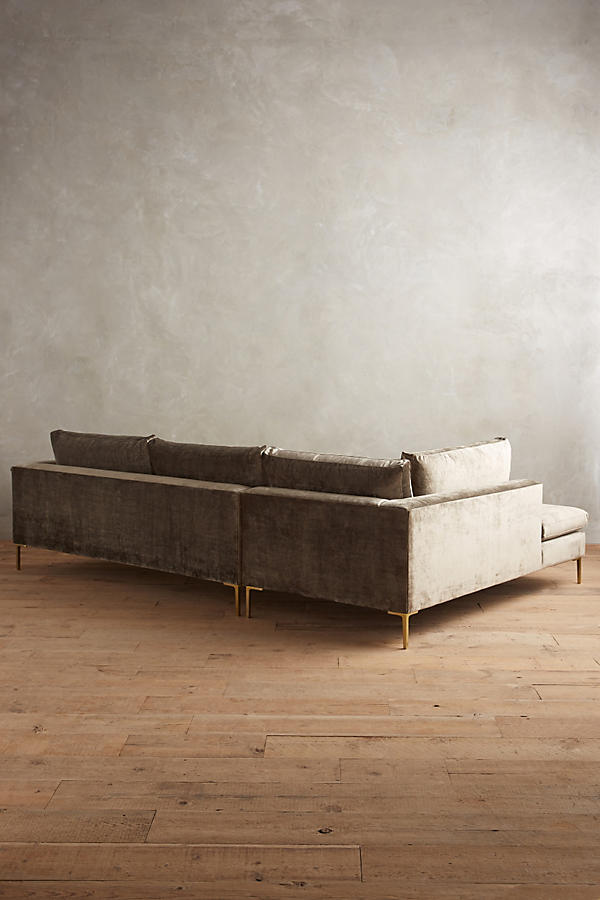 Slide View: 3: Slub Velvet Edlyn Left Sectional