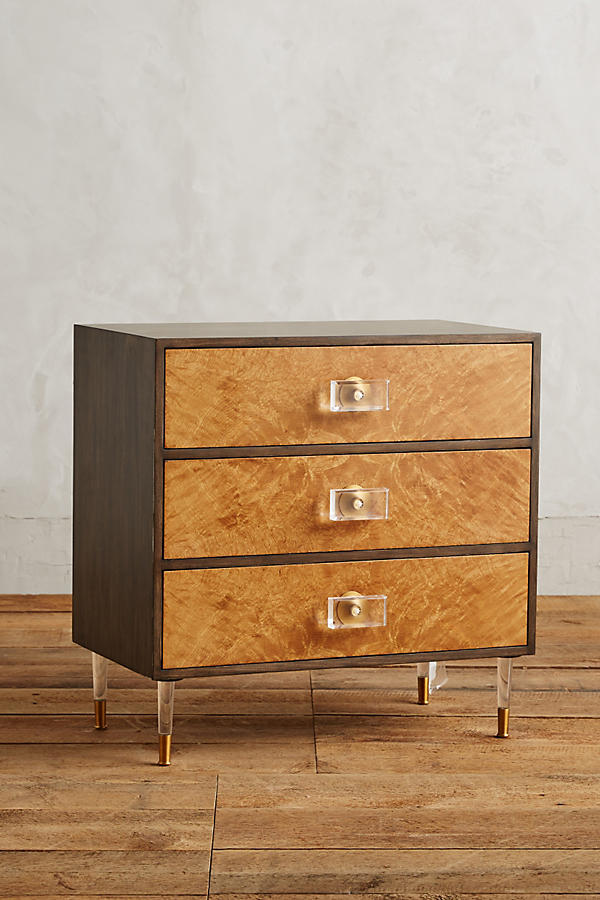 Burlwood Regency Three-Drawer Dresser