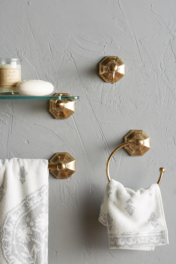 Slide View: 2: Brass Circlet Towel Ring