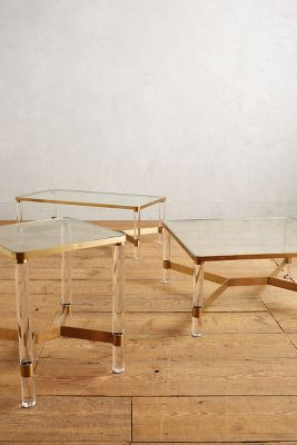 Oscarine Lucite Coffee Table Rectangle Anthropologie