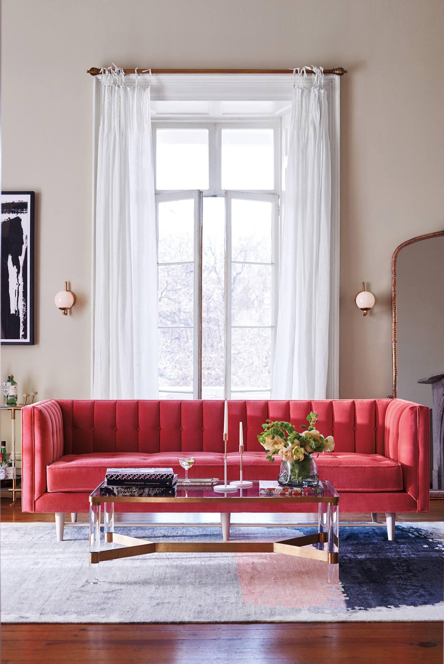 Anthropologie Pink Sofa