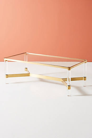 Slide View: 2: Oscarine Lucite Coffee Table, Rectangle