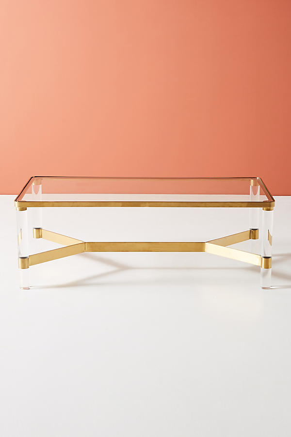 Slide View: 3: Oscarine Lucite Coffee Table, Rectangle