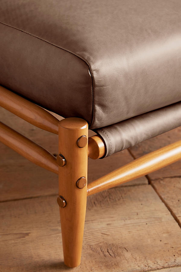 Slide View: 2: Leather Rhys Ottoman