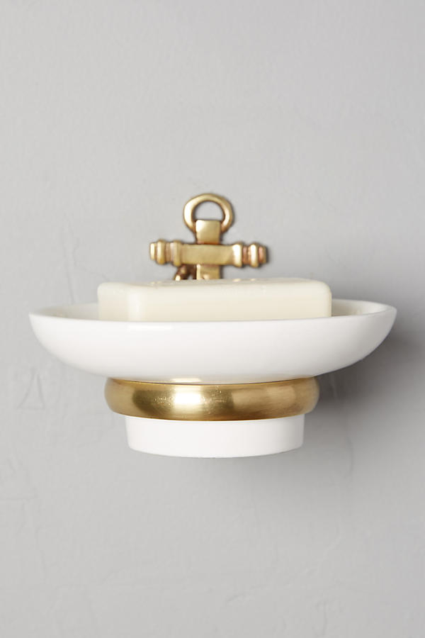 Brass Anchor Soap Dish