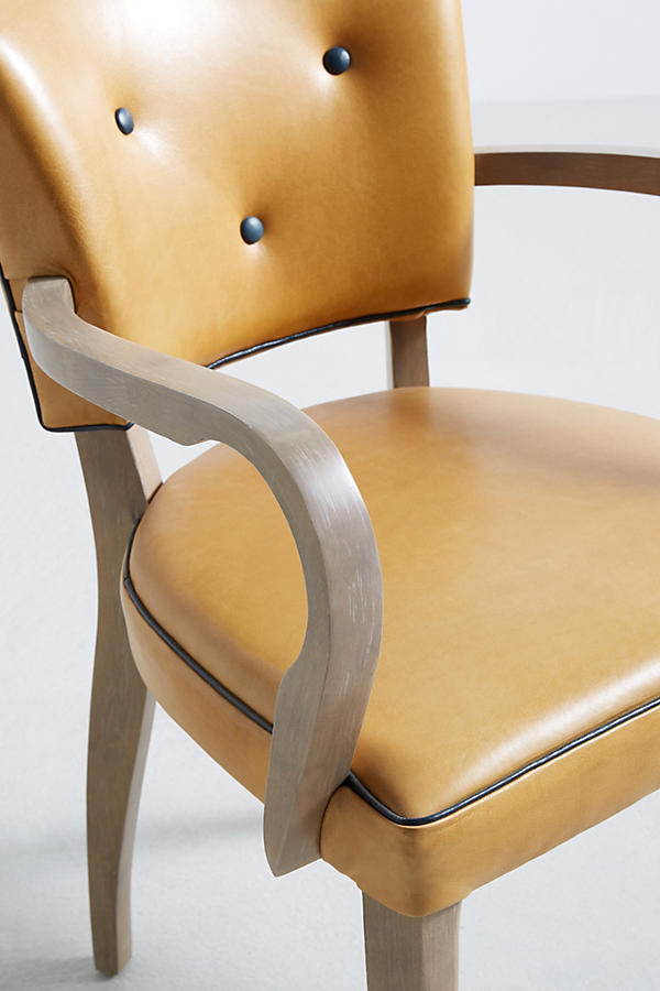 Slide View: 5: Premium Leather Promena Dining Armchair