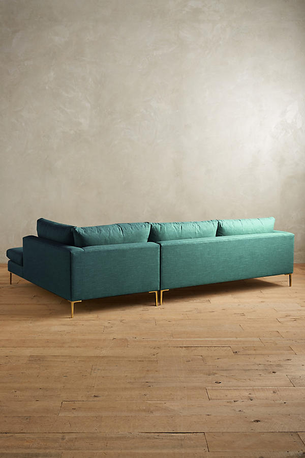 Slide View: 2: Belgian Linen Edlyn Right Sectional