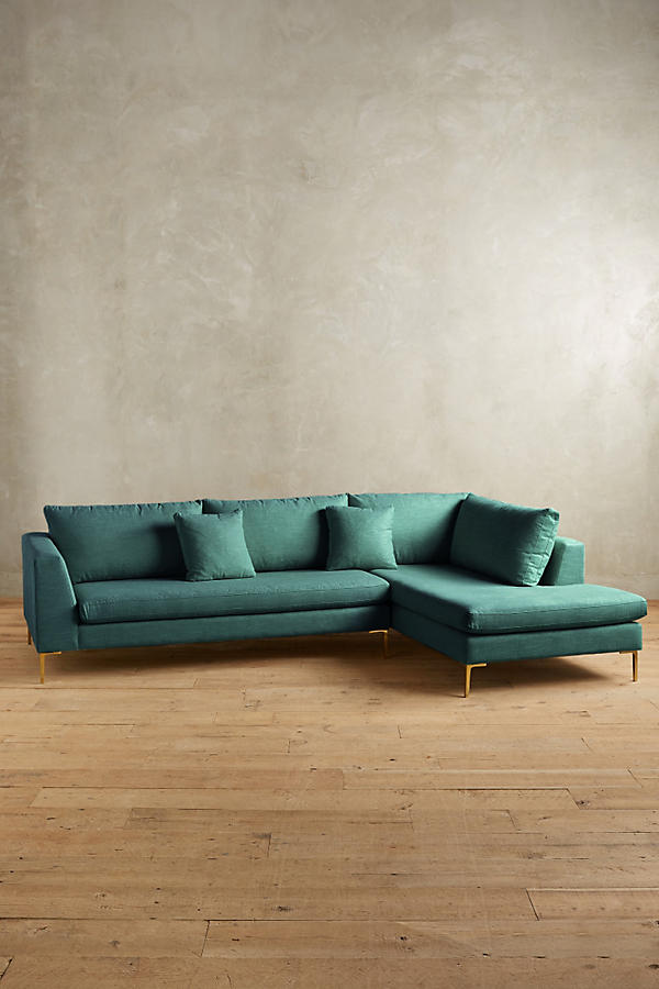 Slide View: 1: Belgian Linen Edlyn Right Sectional