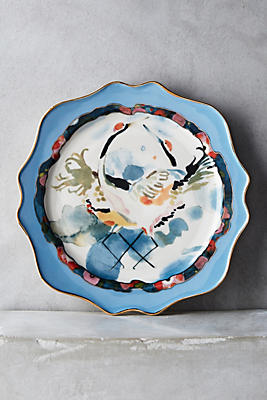 Slide View: 1: Plumed Crest Dessert Plate