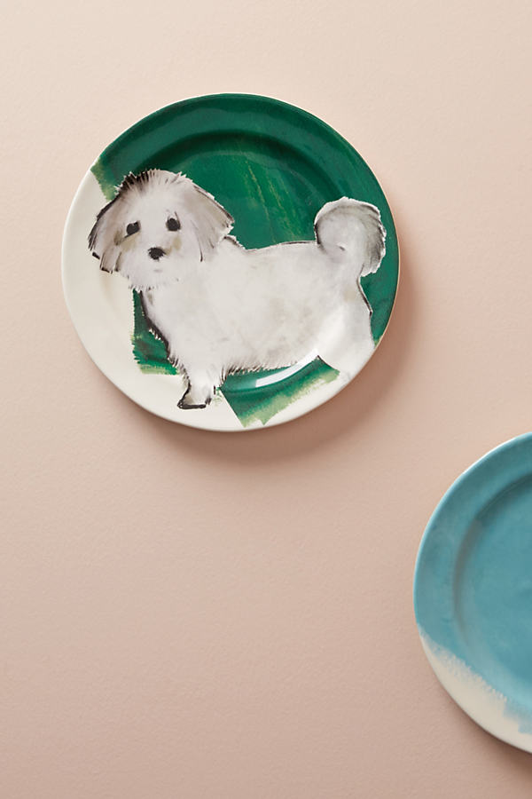 Dog-a-Day Dessert Plate - Holly, Size Salad