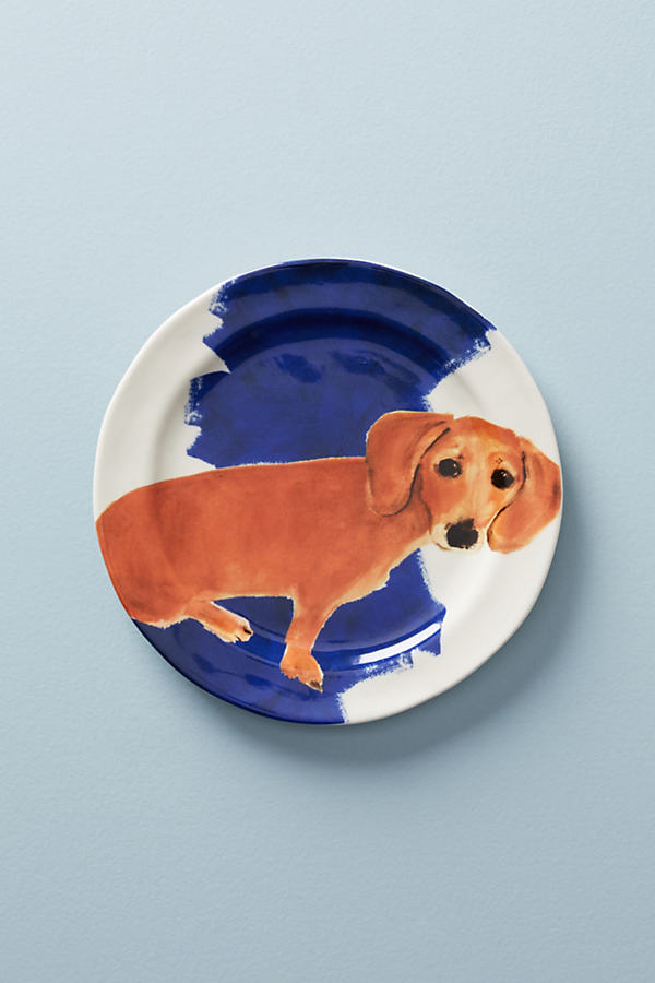 Dog-a-Day Dessert Plate - Sapphire, Size Salad