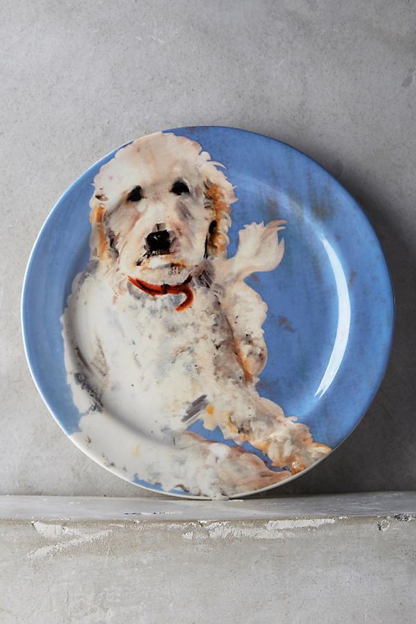 Dog-a-Day Dessert Plate - Sky, Size Salad