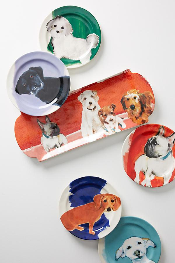 Slide View: 3: Dog-a-Day Dessert Plate