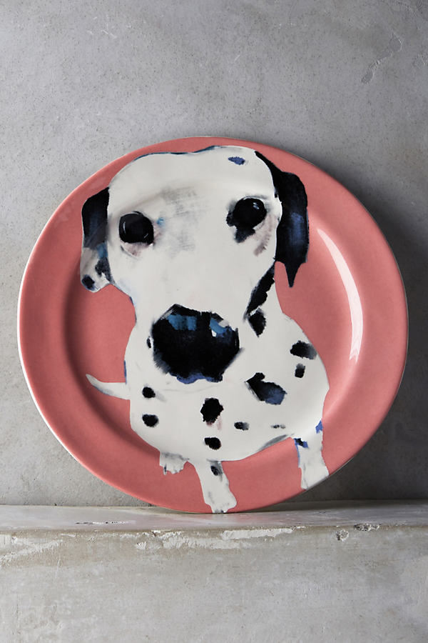 Dog-a-Day Dessert Plate - Coral, Size Salad