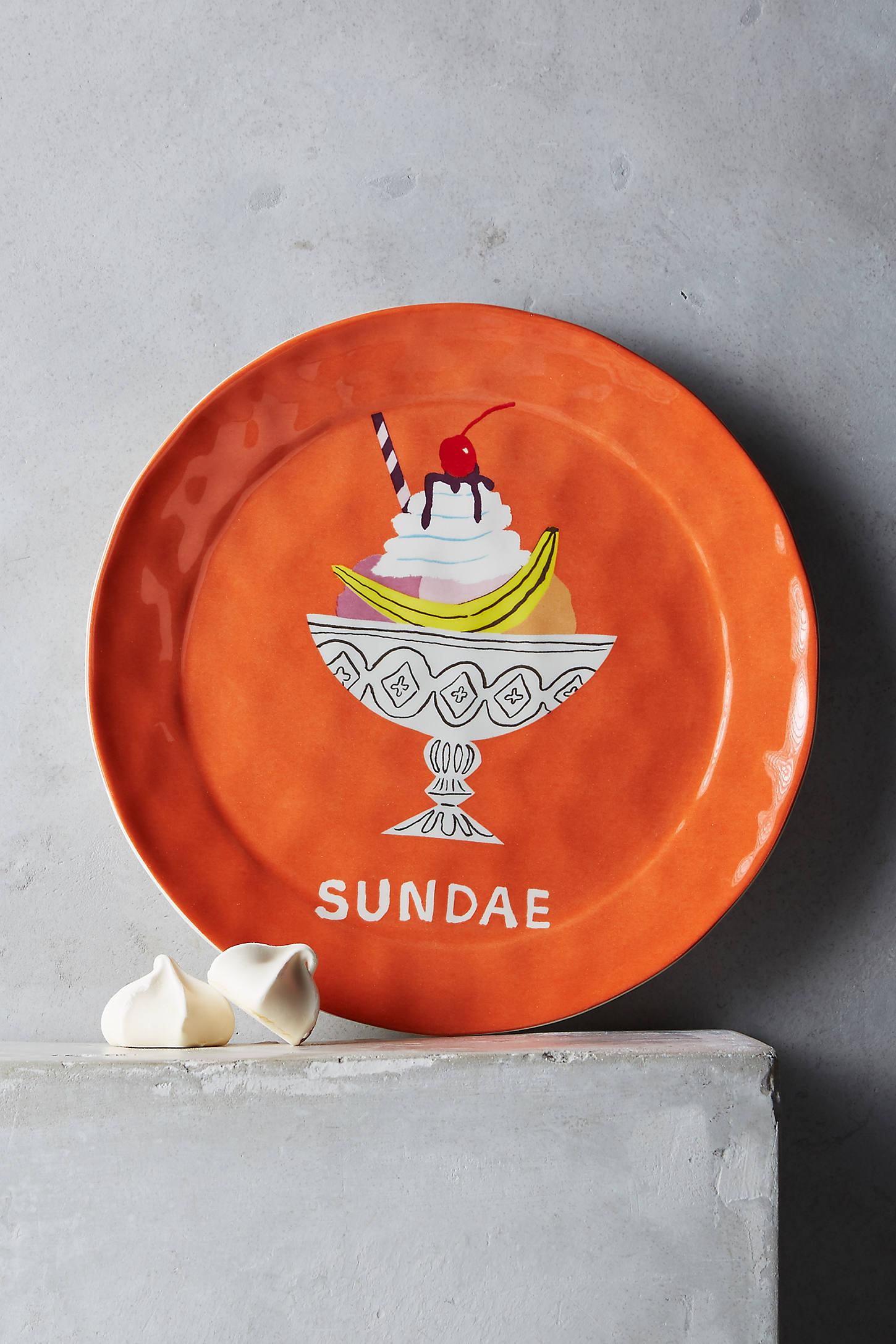 Pictoral Dessert Plate
