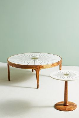 Brass Starburst Round Coffee Table Anthropologie