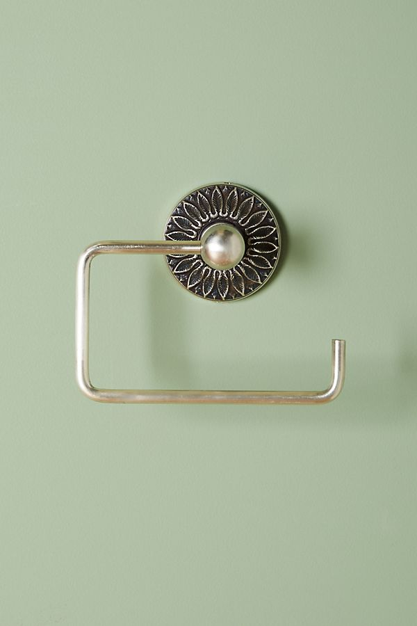 Floral Imprint Toilet Paper Holder | Anthropologie