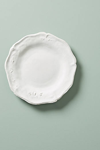 Shop side plates salad dessert plate sets anthropologie for Calligrapher canape plate