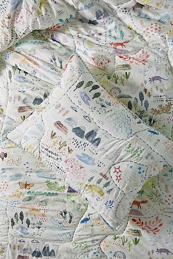 Size toddler sham toddler baby crib bedding sets anthropologie wilderness map toddler sham gumiabroncs Images