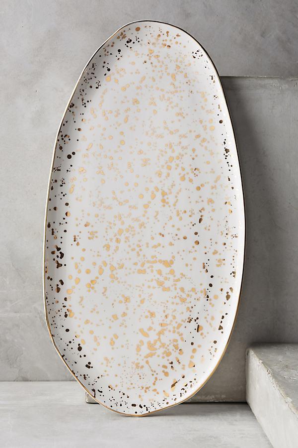 Mimira Large Platter - Gold, Size Child