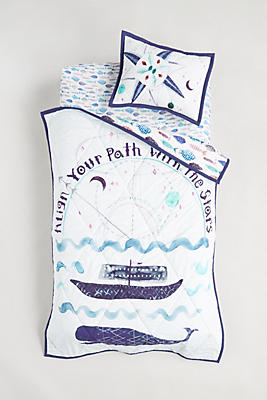 Slide View: 4: Nautical Navigation Toddler Sham