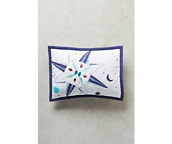 Slide View: 1: Nautical Navigation Toddler Sham