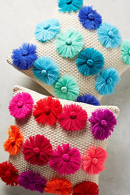 Slide View: 4: Textured Blooms Pillow
