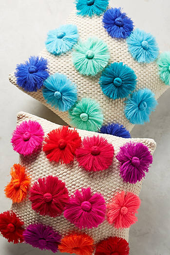 Textured Blooms Pillow