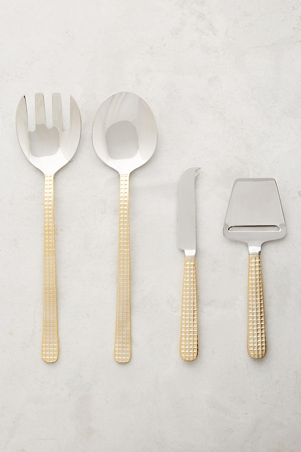 Slide View: 2: Manhattan Gold Salad Servers