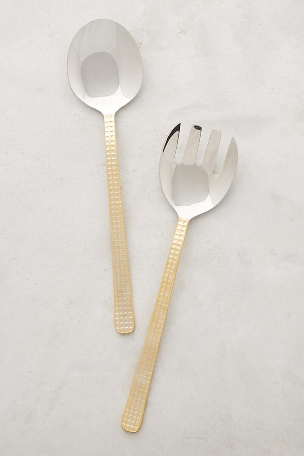 Slide View: 1: Manhattan Gold Salad Servers