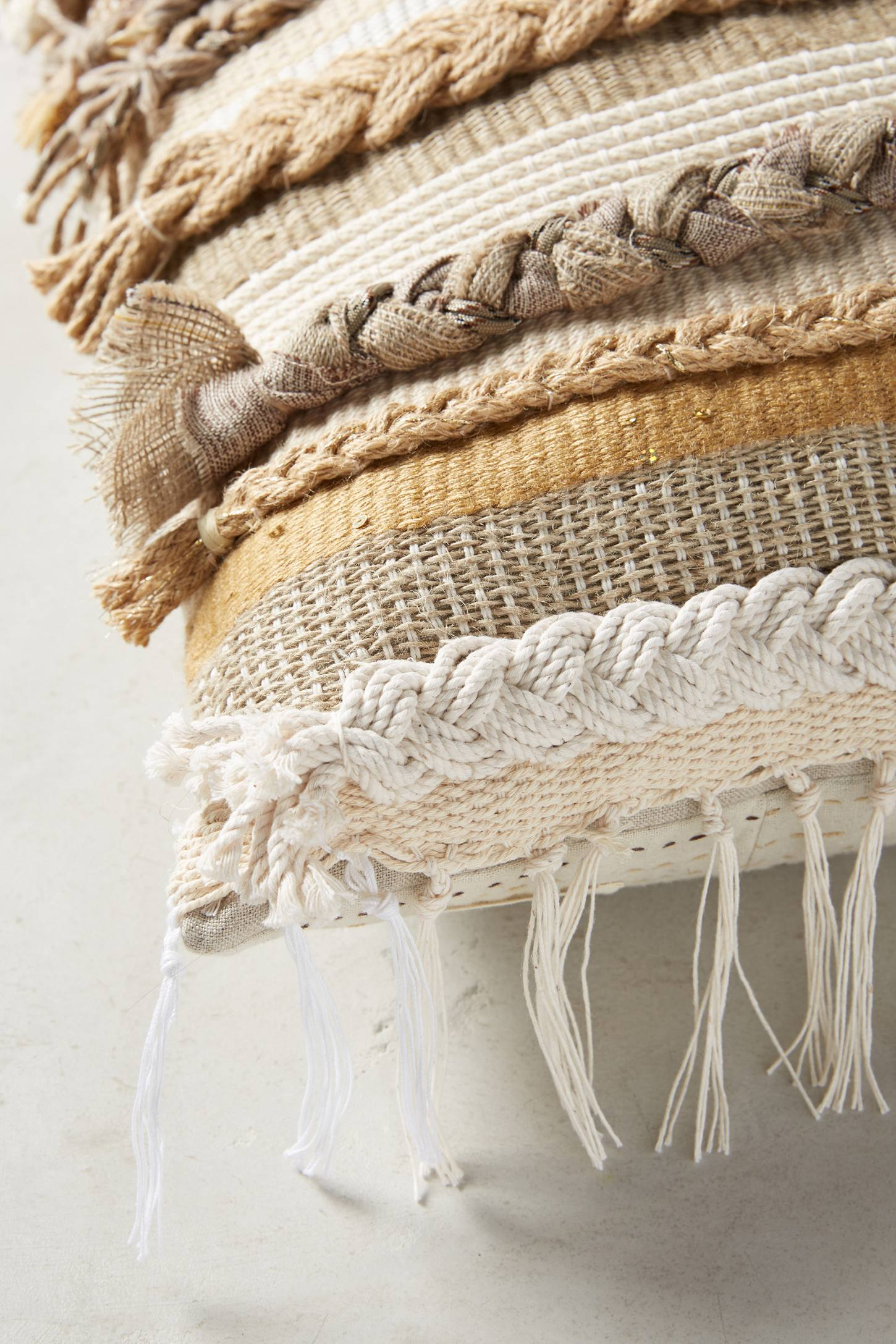 Slide View: 3: Braided & Woven Pillow
