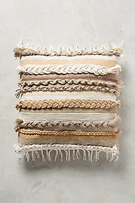 Slide View: 1: Braided & Woven Pillow