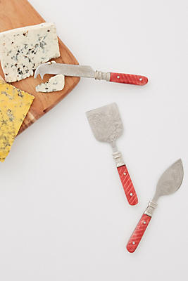 Slide View: 1: Laine Cheese Knife Set