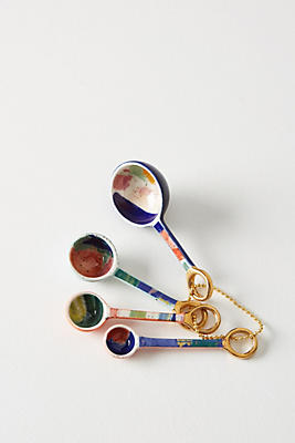 Slide View: 1: Painter's Palette Measuring Spoons
