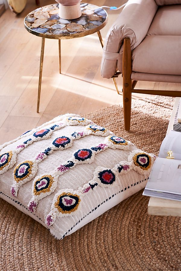 Tufted Ayla Floor Pillow | Anthropologie