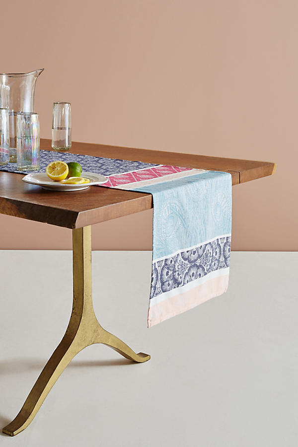 Slide View: 1: Liberty for Anthropologie Jacquard-Woven Table Runner