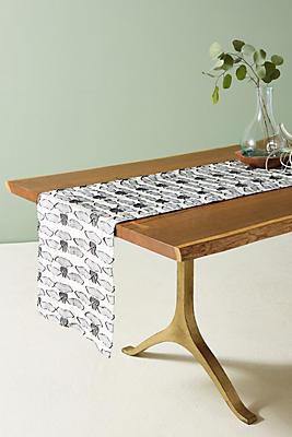 Slide View: 1: Spotted Moyer Table Runner