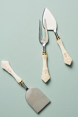 Slide View: 1: Goldenrod Cheese Knives