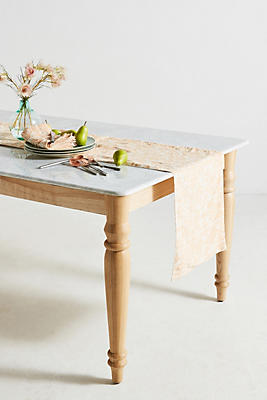 Slide View: 1: Metallic Jacquard Table Runner