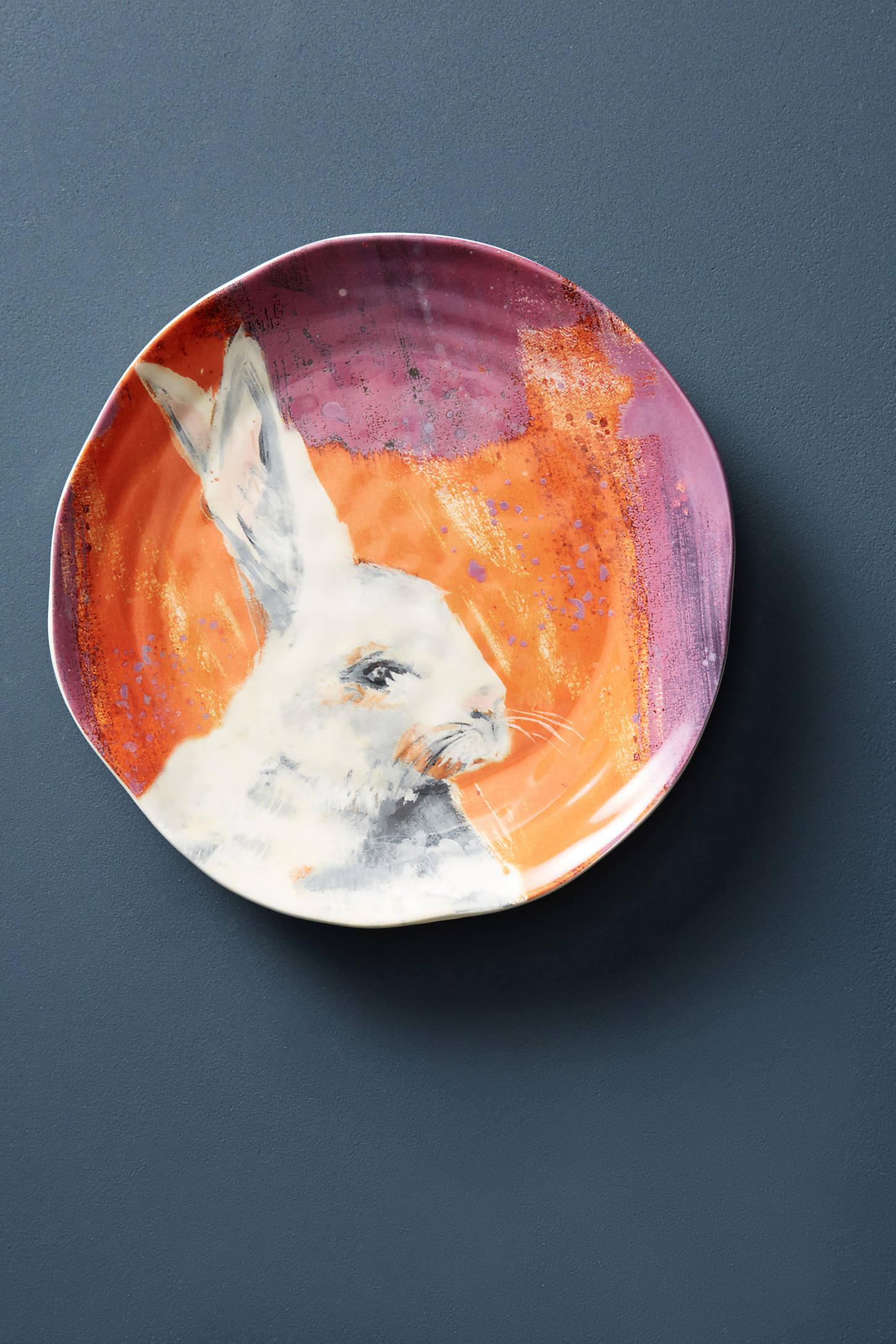 Winter Fauna Dessert Plate