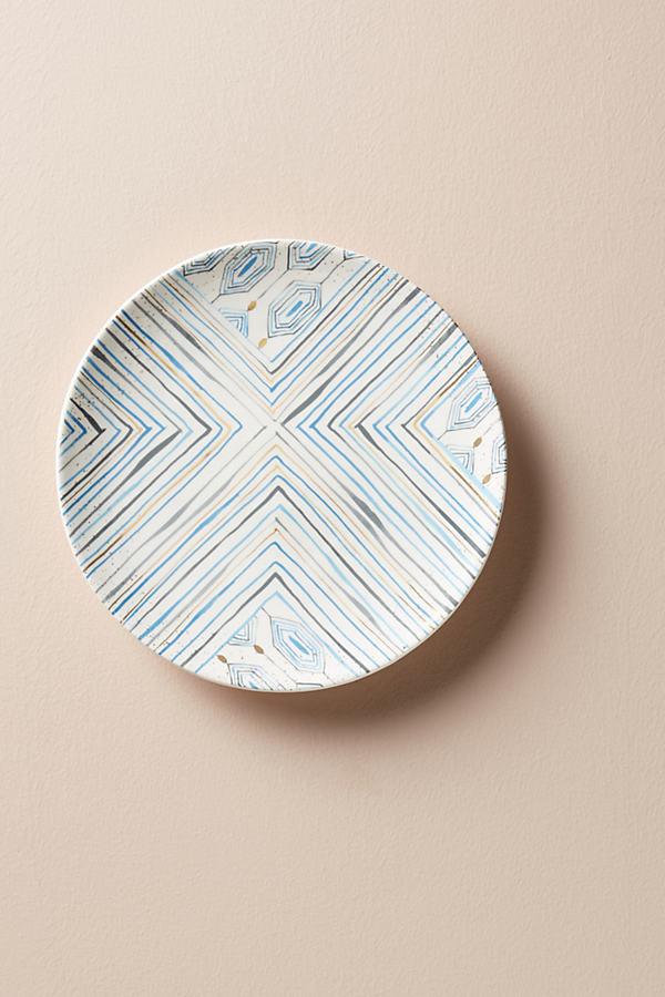 Oleanna Dessert Plate - Blue Motif, Size Salad