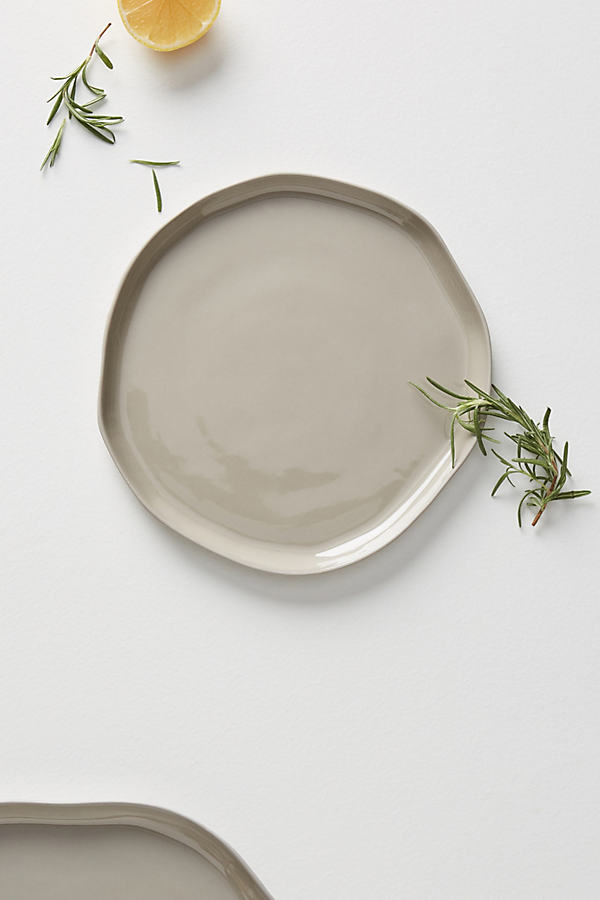 Piedra Side Plate - Light Grey, Size Salad