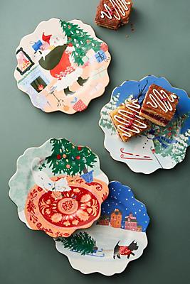 Slide View: 2: Holiday Spirit Dessert Plate