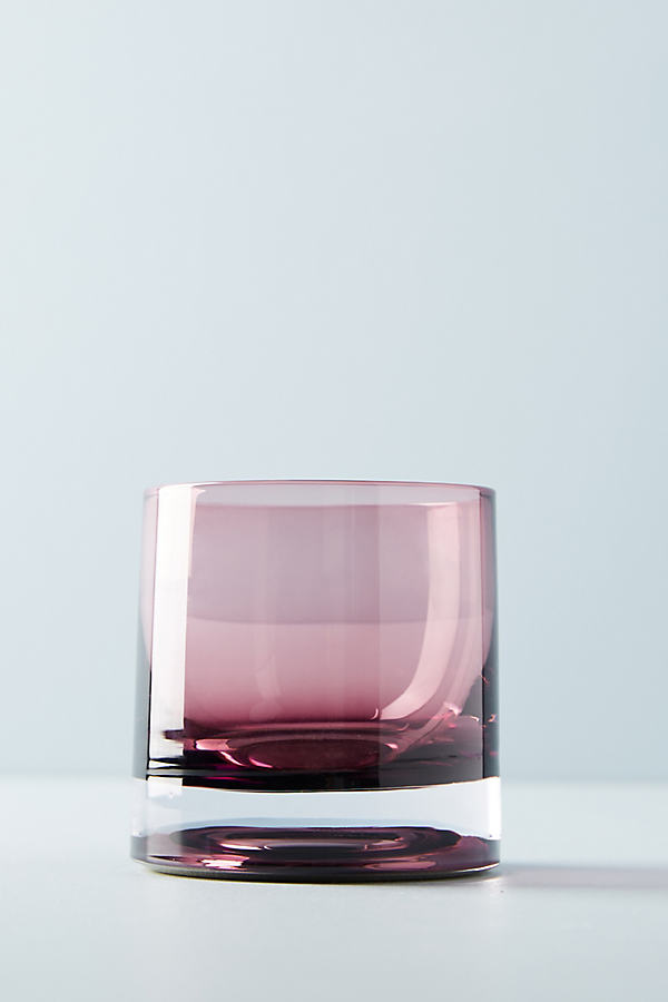 Sophie Tumbler Glass - Light Mauve, Size Old Fashion