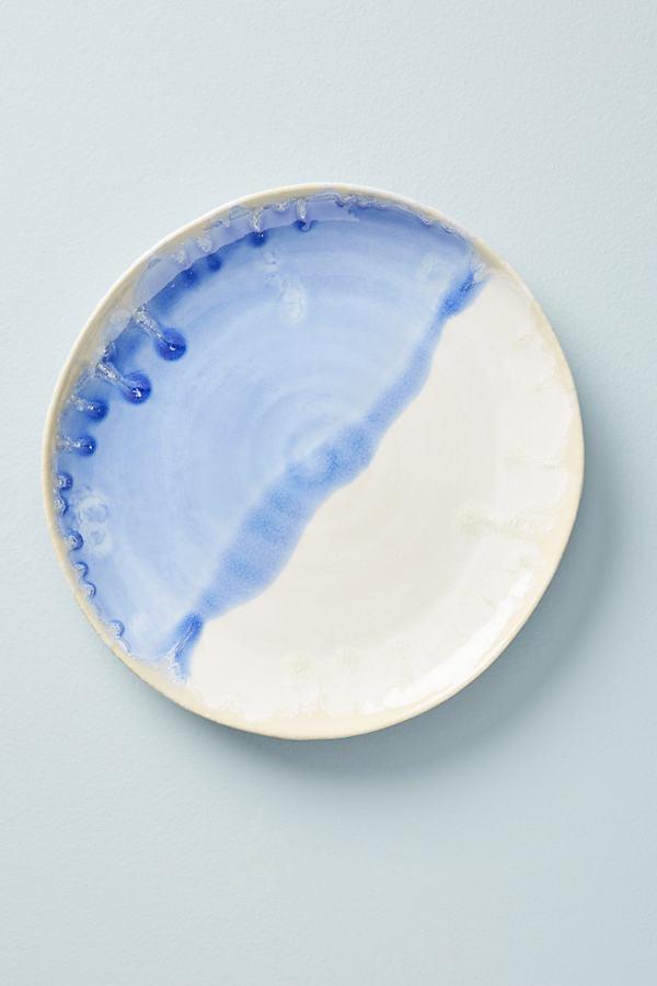 Piet Side Plate - Blue Motif, Size Salad