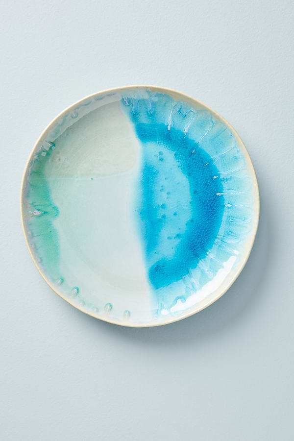 Piet Side Plate - Blue Green, Size Salad